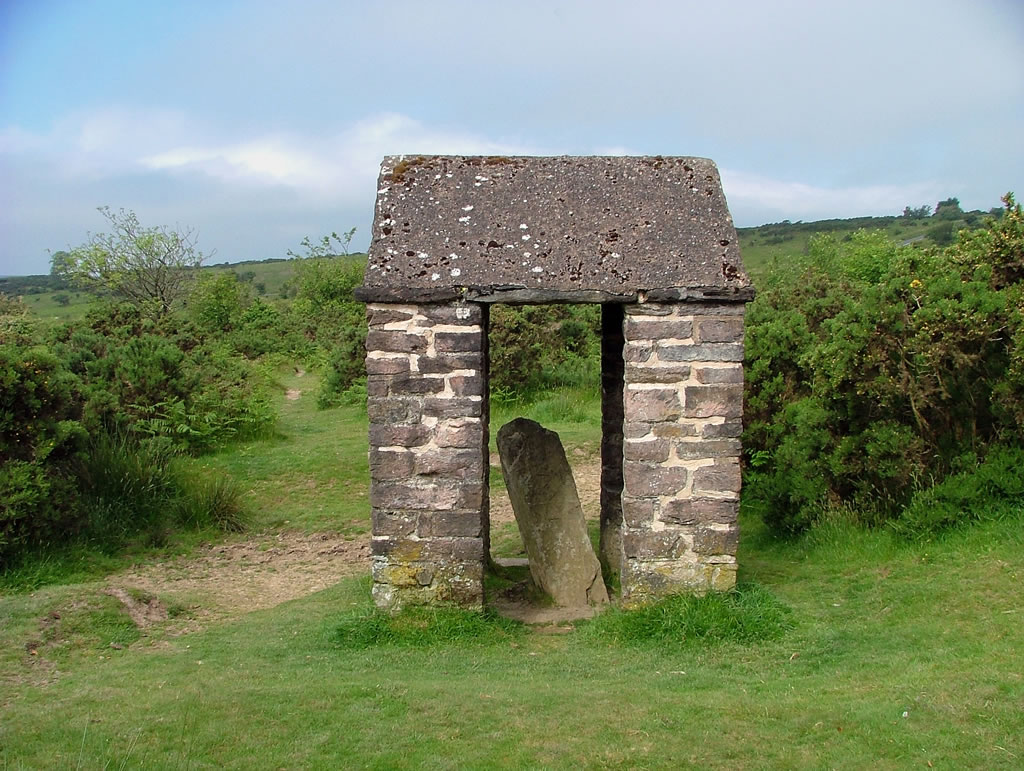 The Caractacus Stone - historical monument on Winsford Hill